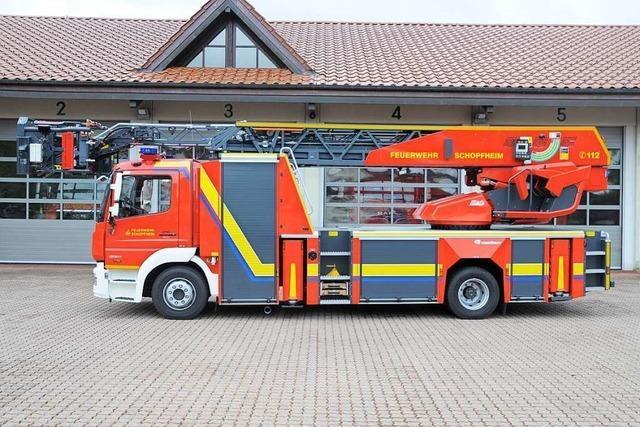 Die Drehleiter ist der neue Stolz der Schopfheimer Feuerwehr