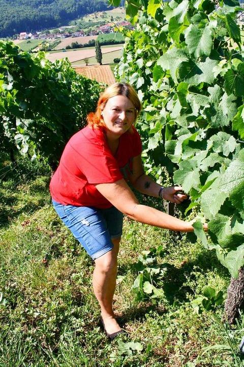 Simone Schwaab möchte jungen Leuten den Wein als Genussmittel nahebringen.  | Foto: Anja Kunz