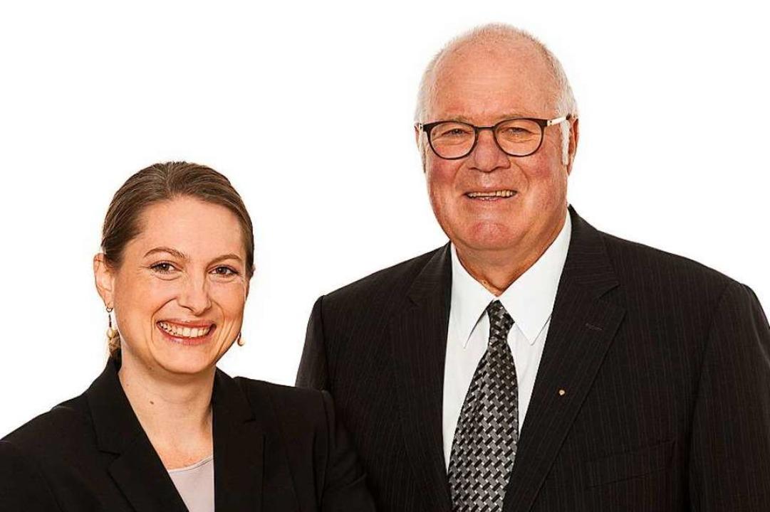 Vater und Tochter blicken zuversichtli...die Zukunft: Nadja und Wolfgang Poppen  | Foto: BZ
