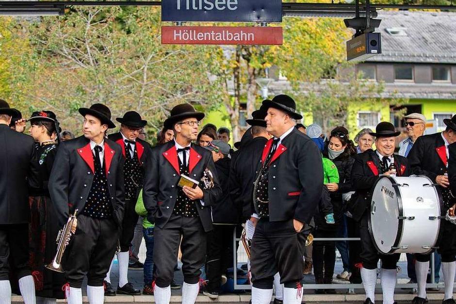 Blasmusik macht Dampf:<?ZP?>  Musikalische Fahrt auf der 3-Seenbahn (Foto: Wolfgang Scheu)