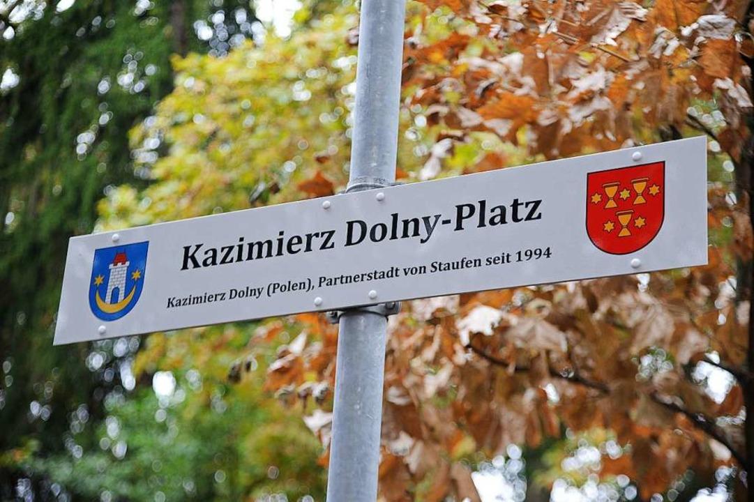 Das Schild zum Platz  | Foto: Hans-Peter Müller