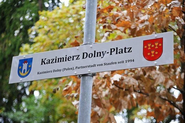 Staufen hat jetzt einen Kazimierz-Dolny-Platz