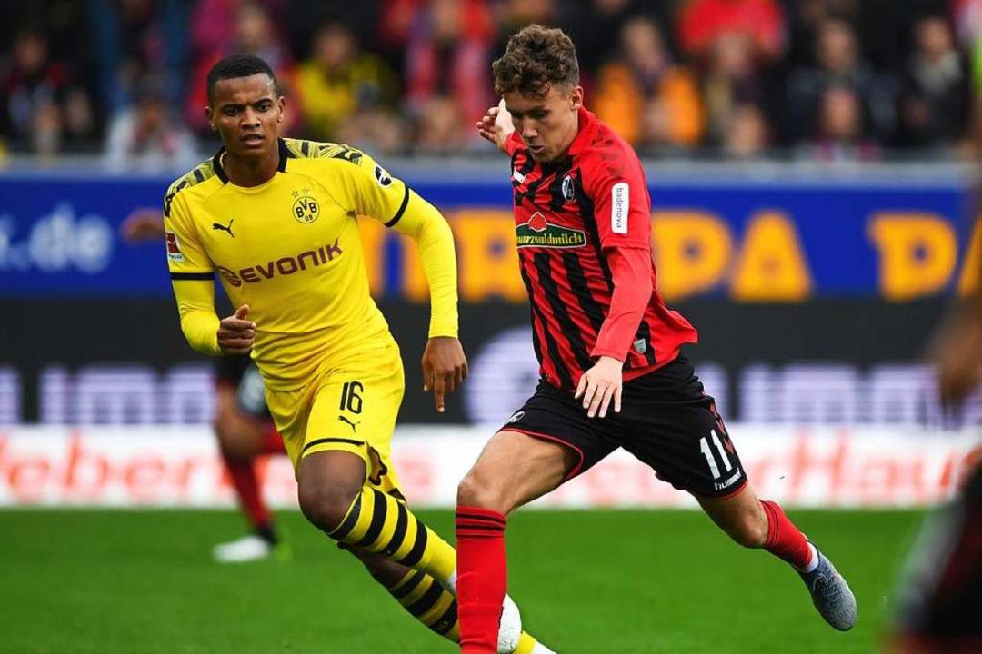 Luca Waldschmidt erzielte auch gegen Borussia Dortmund ein sehenswertes Tor.  | Foto: Patrick Seeger (dpa)