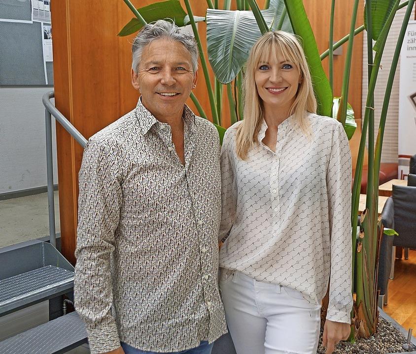 Die Inhaber Roland und Aga Kaltenbach freuen sich über das 40-jährige Bestehen.     Foto: Fitness-Gym