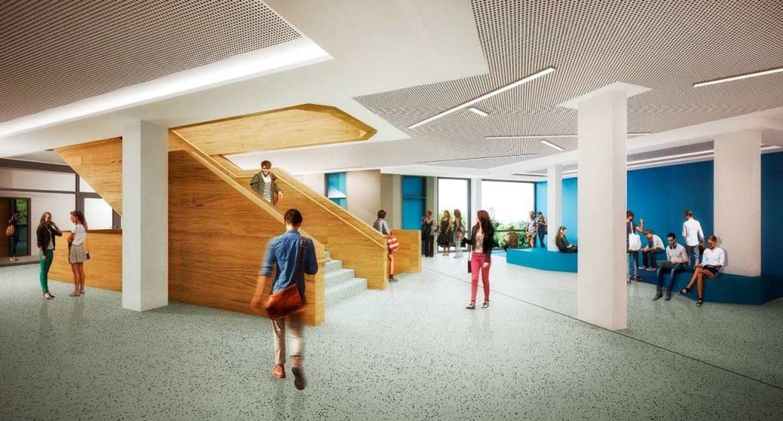 So soll das Foyer des sanierten  Schulgebäudes einmal aussehen.  | Foto: scoopimages - Berlin