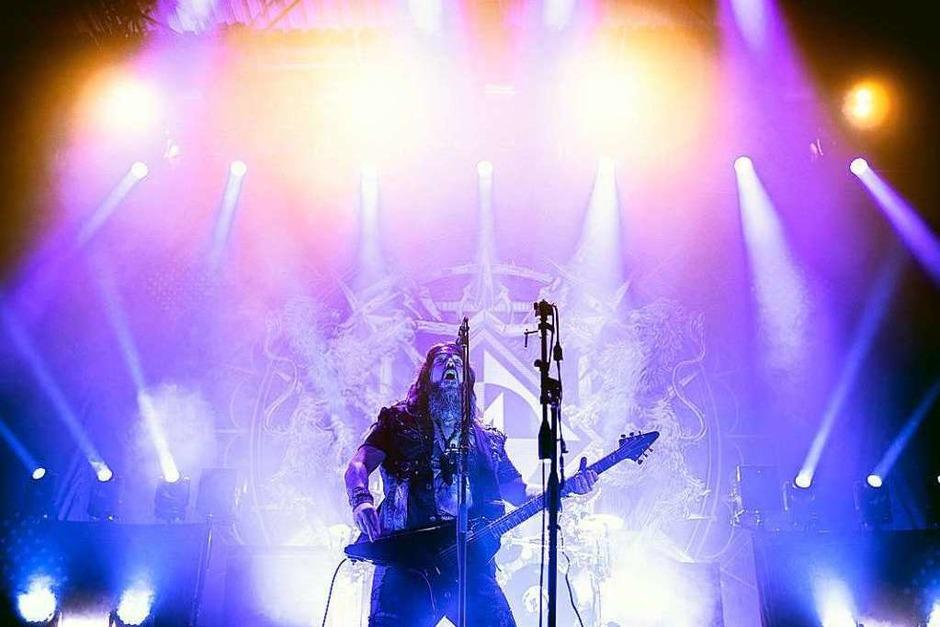 Die amerikanische Metalband Machine Head hat die Freiburger Sick-Arena gerockt. (Foto: Janos Ruf)