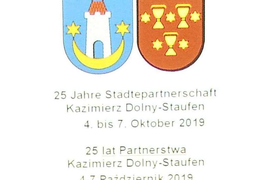 Seit 25 Jahren hat Staufen eine Partnerschaft mit der polnischen Stadt Kazimierz Dolny. Das Jubiläum wurde mit der Einweihung eines Platzes am Neumagen und einem Galaabend mit dem Kabarettisten Steffen Möller begangen. (Foto: Hans-Peter Müller)