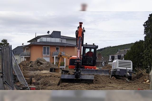 Die Bauarbeiten laufen
