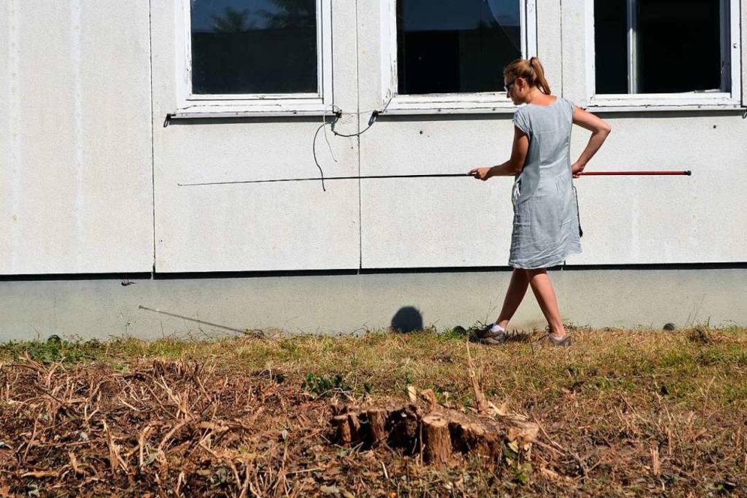 Virginia Keller nähert sich langsam de...en. Doch die Echsen sind blitzschnell.  | Foto: Savera Kang