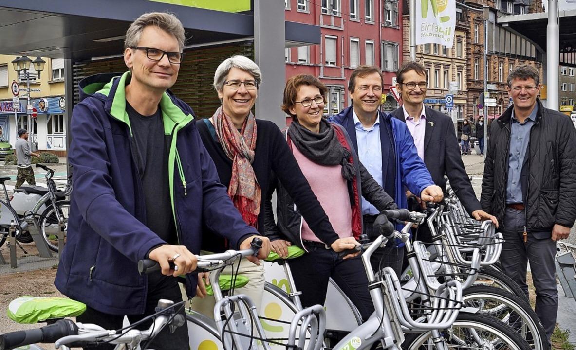Mitglieder des Arbeitskreises Verkehr ...urgs Baubürgermeister Oliver Martini.   | Foto: Christine Storck-Haupt
