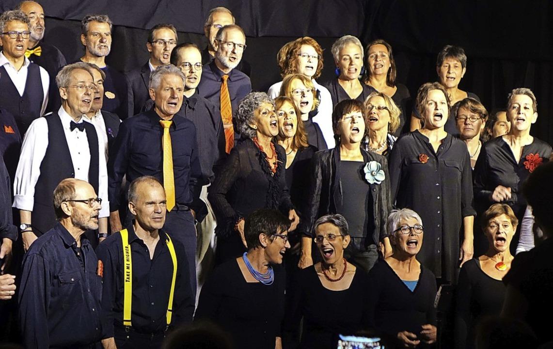Doppelter Hörgenuss: Der Lörracher Jaz...gs, sehr zum Vergnügen des Publikums.   | Foto: Roswitha Frey