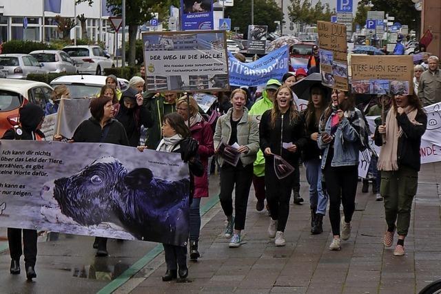 Protest gegen Tiertransporte
