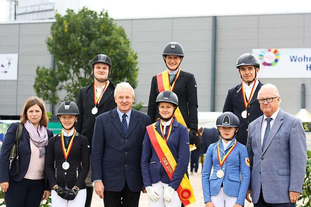 Die Medalliengewinner am Schlusstag de...Ringvorsitzender Hans-Jürgen Schnebel.    Foto: Jutta Reichenbach