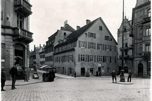 Das Geschäftshaus am Eingang zur Freiburger Gerberau ist 115 Jahre alt