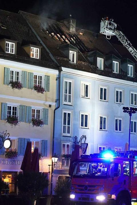 Der Dachstuhlbrand am Münsterplatz war...iburger Feuerwehr. Foto: Rita Eggstein  | Foto: Rita Eggstein