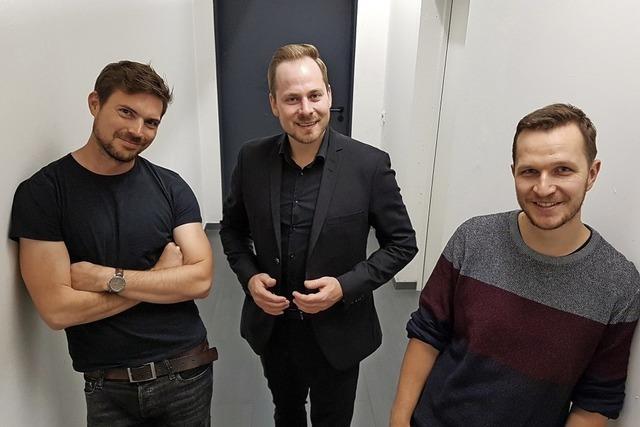 Daniel Wagner, Nik Salsflausen und Johannes Elster beim