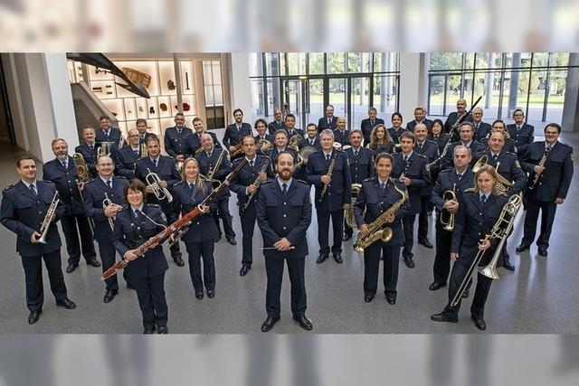 Das Bundespolizeiorchester München spielt am Kaiserstuhl