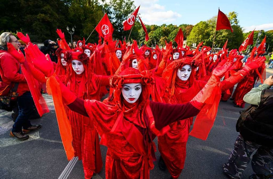 Extinction Rebellion in Berlin  | Foto: Christophe Gateau (dpa)