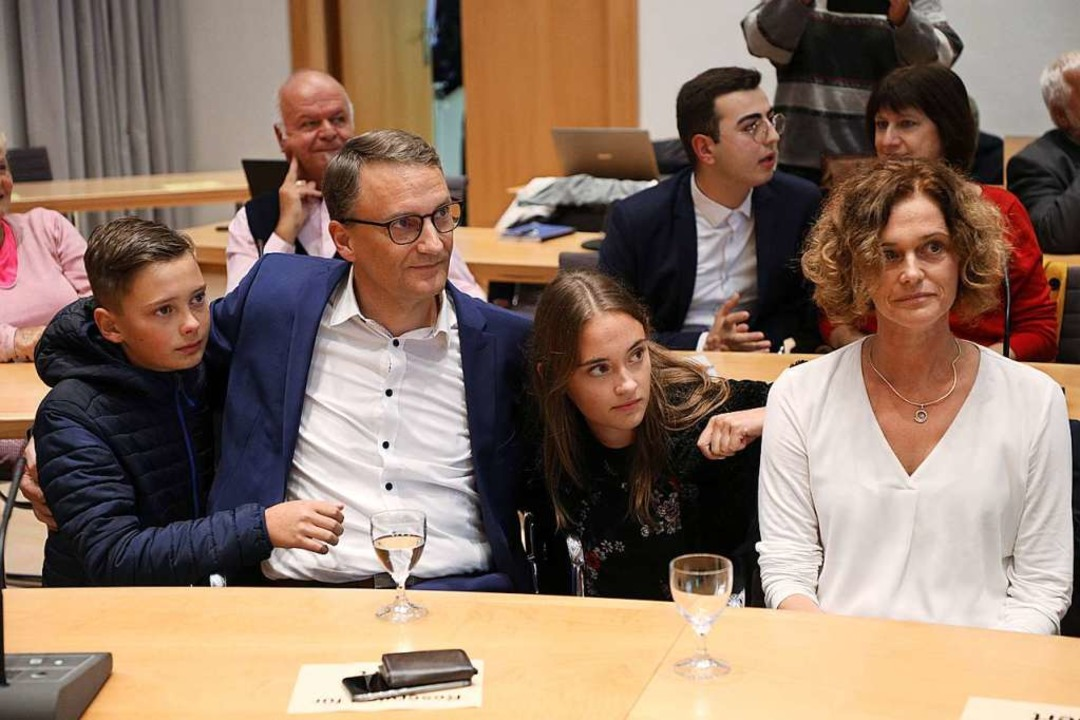 Moritz, Markus, Alina und Marion Ibert...en – anschließend wird gefeiert.    Foto: Christoph Breithaupt