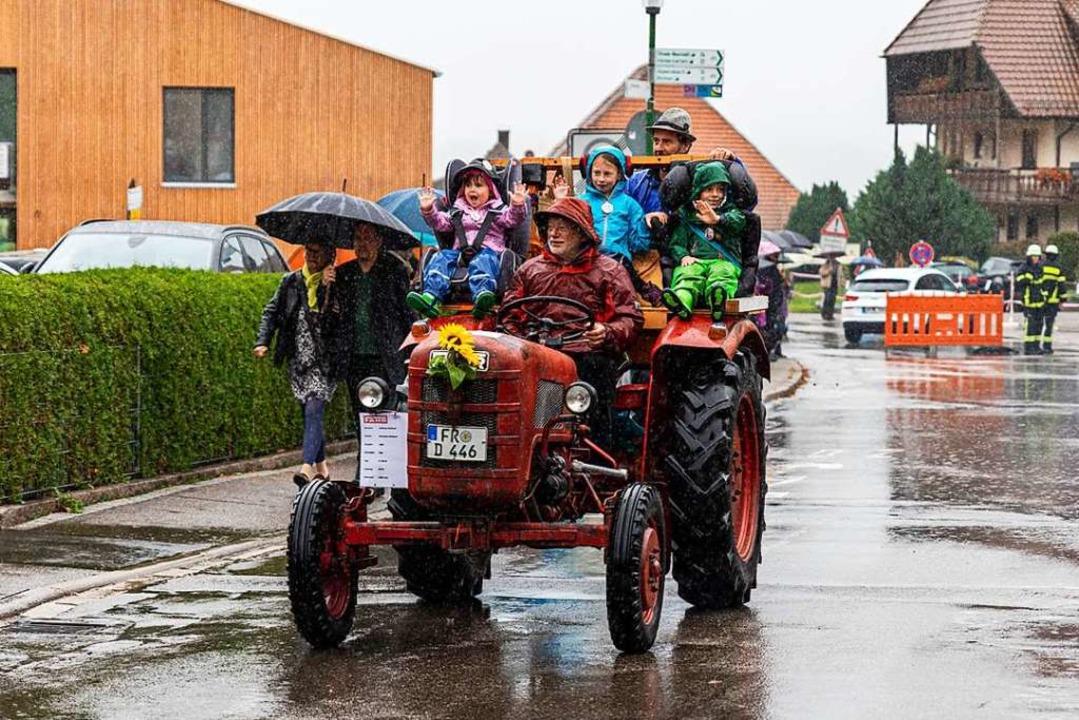 """Hab mei' Traktor voll gelade...""  | Foto: Hubert Gemmert"