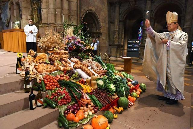 Im Freiburger Münster wurde am Sonntag Erntedank gefeiert