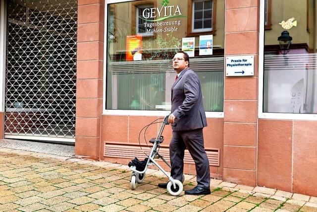 Ortsrundgang durch Müllheim mit Bürgermeisterkandidat Markus Bortoli