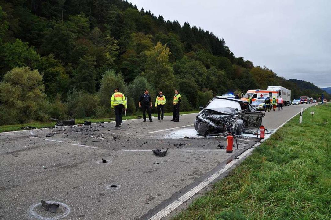 Das Verkehrskommissariat Weil am Rhein muss nun die Unfallursache klären.  | Foto: Nicolai Kapitz