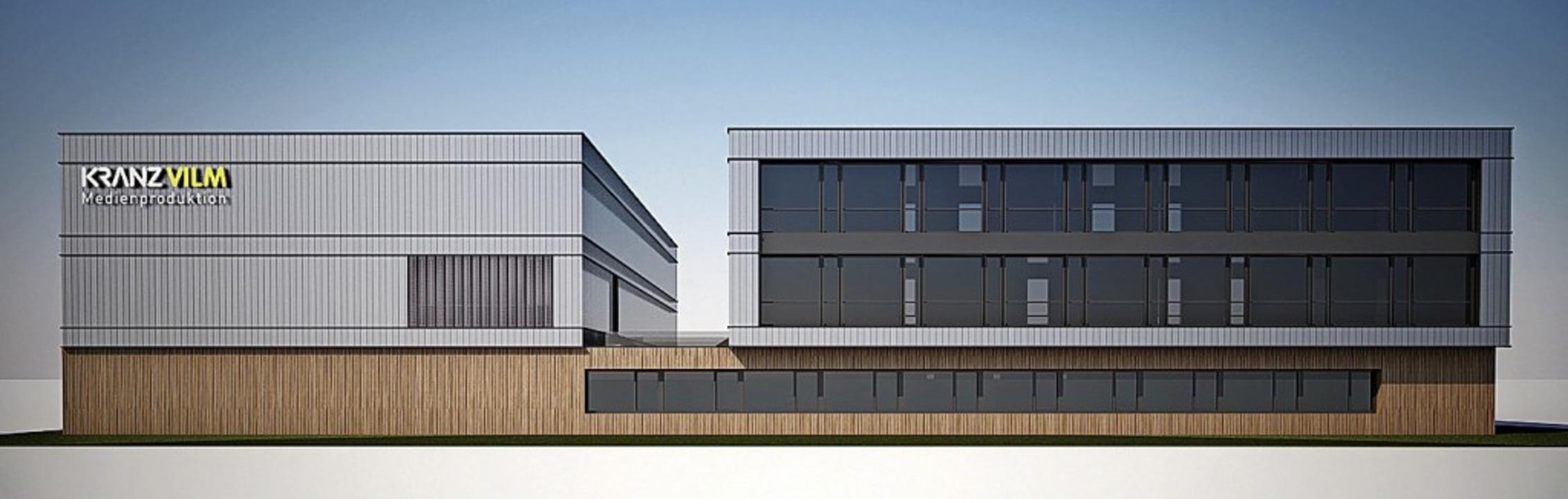 Das geplante Firmengebäude im Gewerbeg...aid-Süd: Spatenstich war vorige Woche.  | Foto: CARRÉ PLANUNGSGESELLSCHAFT MBH