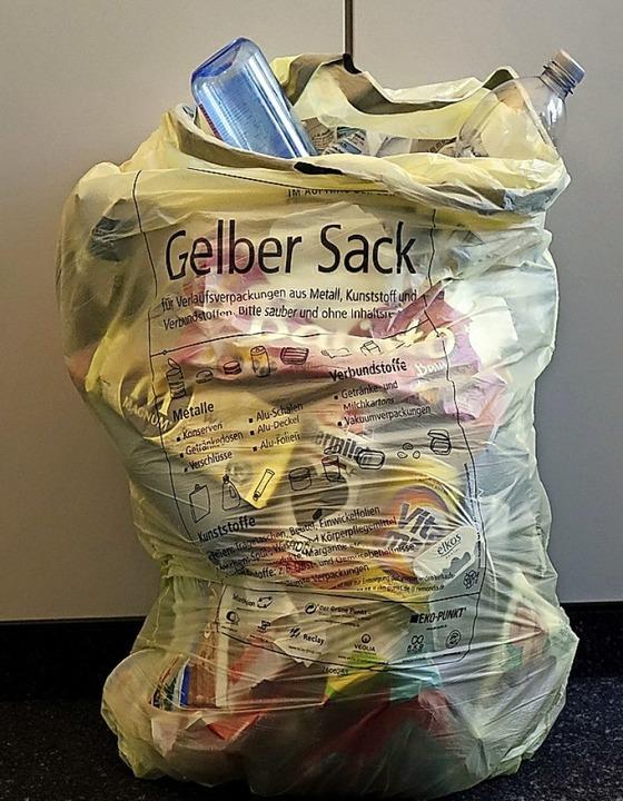 Der Gelbe Sack bleibt − auch ohne Test der Gelben Tonne.  | Foto: Wolfgang Grabherr