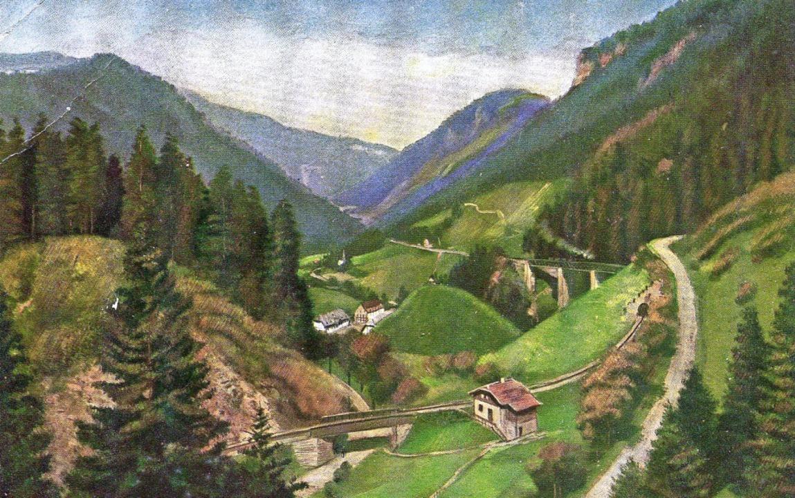 Das Höllental auf einerPostkarte von vor 1918  | Foto: privat