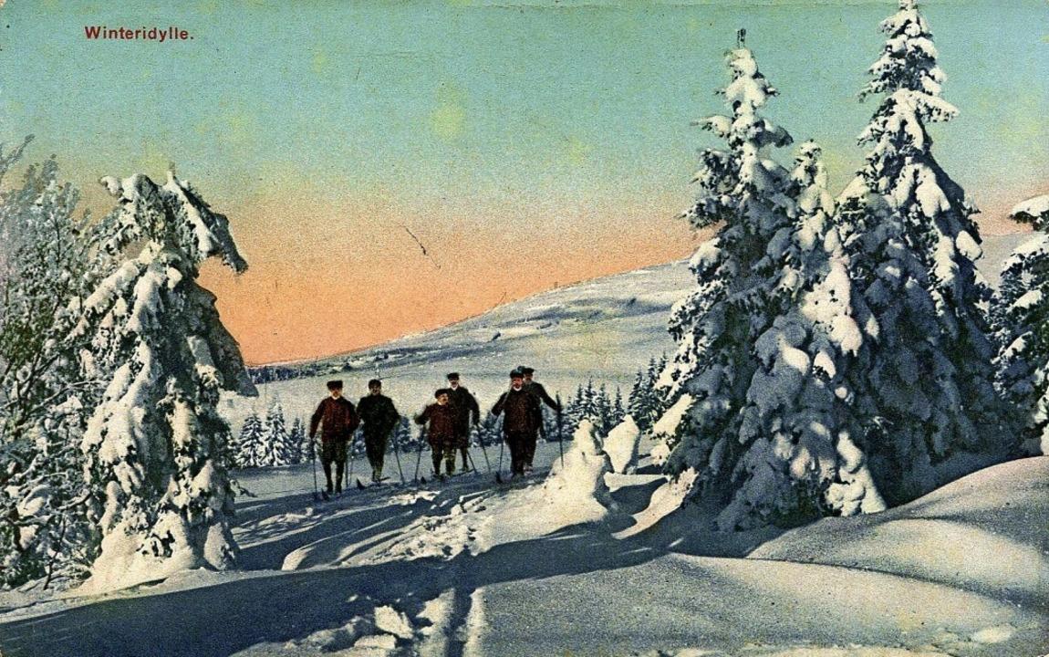 Grüße aus dem Schnee:  Karte von 1918  | Foto: privat