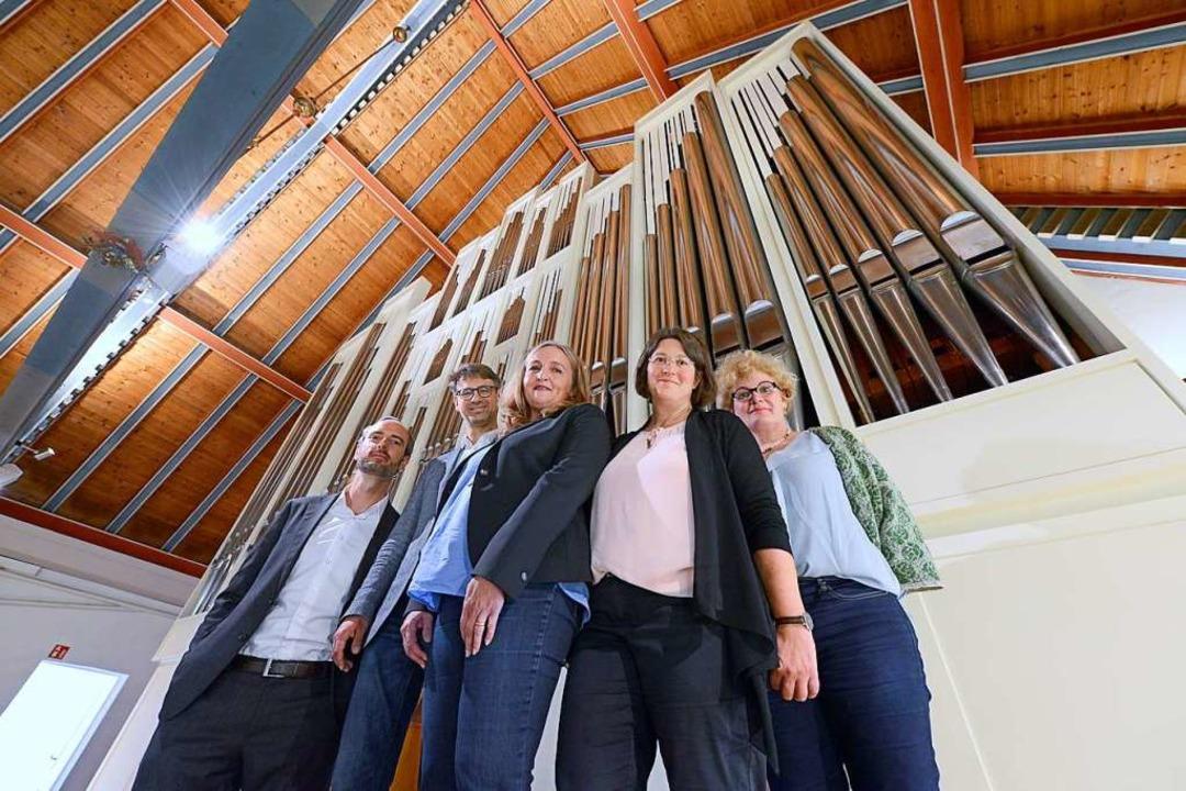 Das Team um Fundraising-Managerin Lail...ug der Friedensorgel zusammenbekommen.  | Foto: Ingo Schneider