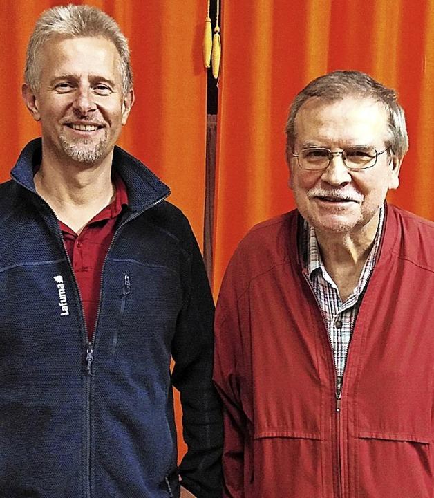 <BZ-FotoAnlauf>Schachgesellschaft:</BZ...nes Jendryssek (rechts) wurde Zweiter.    Foto: pivat