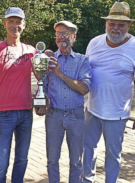 <BZ-FotoAnlauf>Boule-club Maulburg:</B...2019) und Gerd Faoro (dritter Platz).     Foto: privat