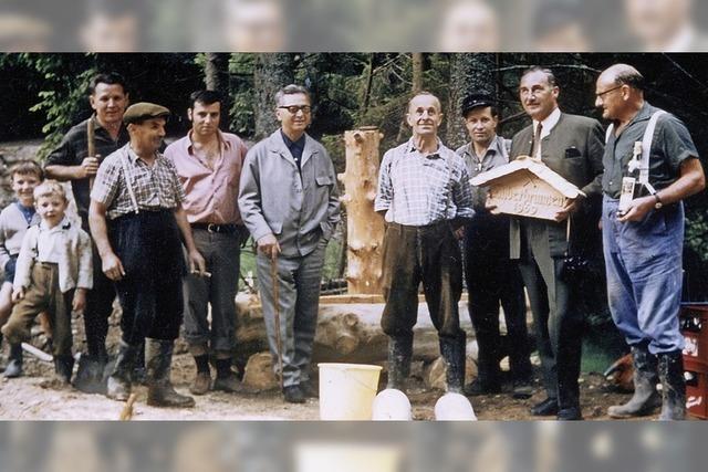Vor 50 Jahren wurde der Silberbrunnen oberhalb von Bickenreute gebaut