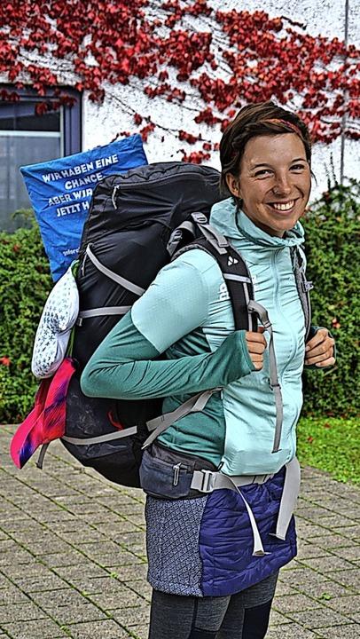 Camilla Kranzusch machte auf ihrer Kli...in nach Marokko Station in Waldkirch.     Foto: Janik Kury
