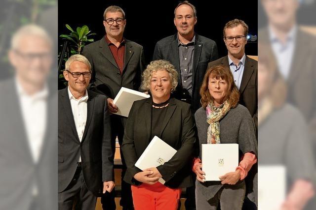 Heitersheim ehrt langjährige Gemeinderäte