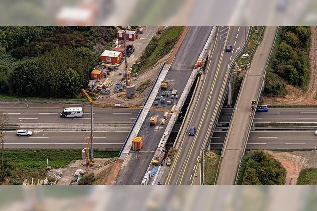 Brückenbau an der Autobahn kommt voran