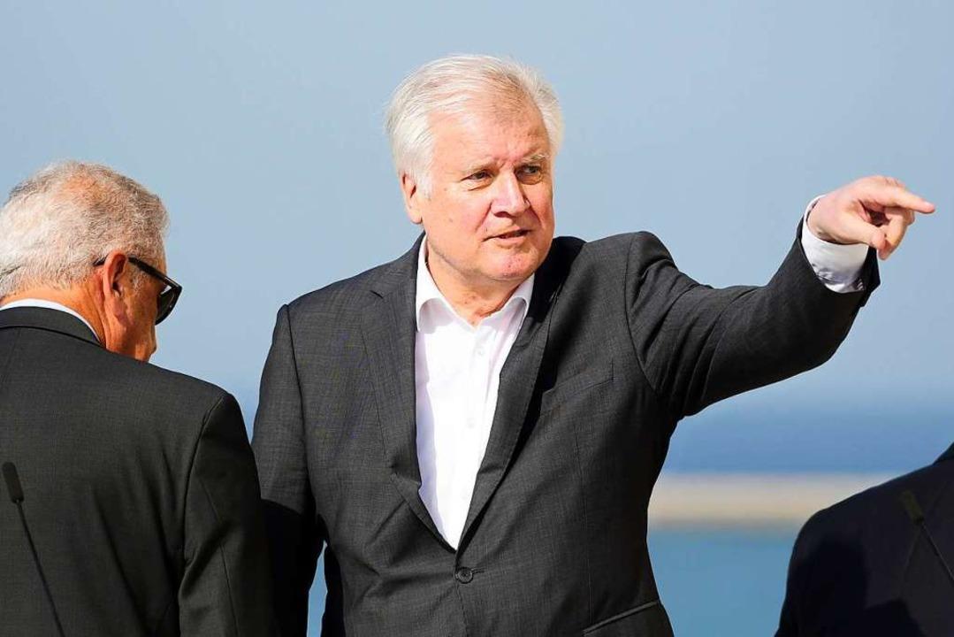 Seehofer hofft auf EU-Asylreform binnen eines Jahres.  | Foto: Jonathan Borg (dpa)