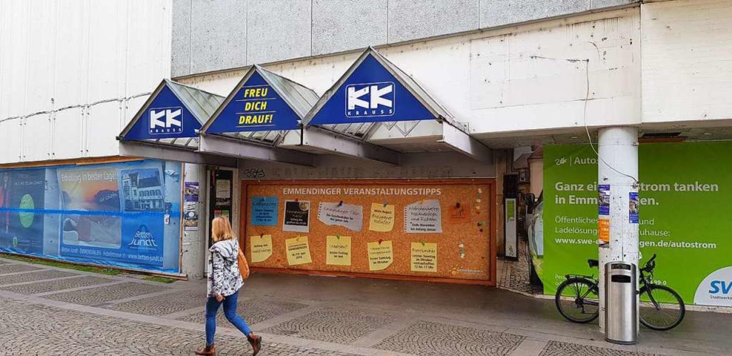 Für viele Emmendinger ein trostloser S...e des Kaufhauses Krauss am Marktplatz.  | Foto: Gerhard Walser