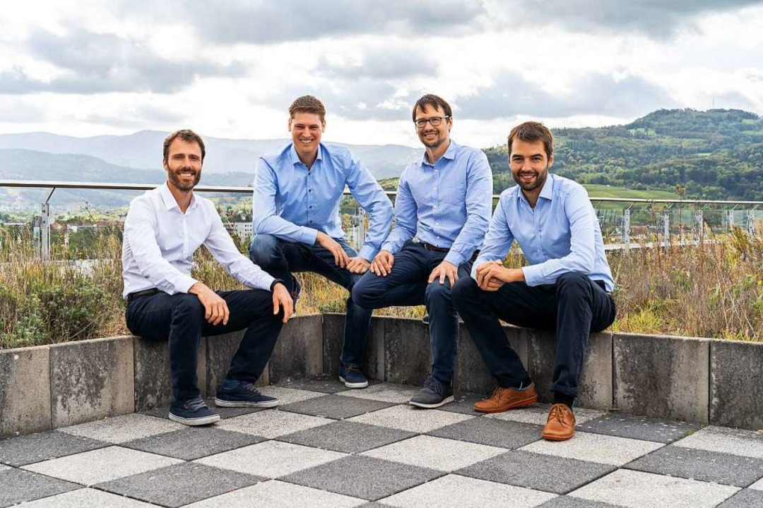 Die Wiferion-Gründer (von links nach r...orian Reiners und Johannes Tritschler   | Foto: Christoph Körner
