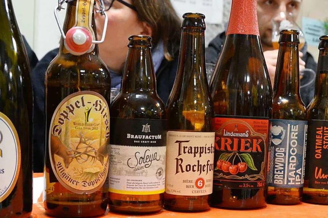 Bierauswahl bei einem Tasting (Archivbild).  | Foto: Max Schuler
