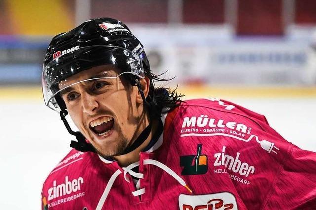 Marvin Neher will mit dem EHC Freiburg in die Playoffs
