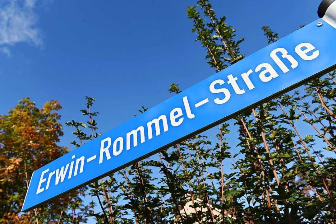 Umstrittener Name: Erwin-Rommel-Straße    Foto: Stefan Puchner (dpa)