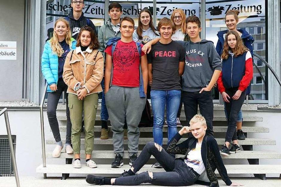 Klasse 9b des Berthold-Gymnasiums, Freiburg (Foto: Hannah Köster)
