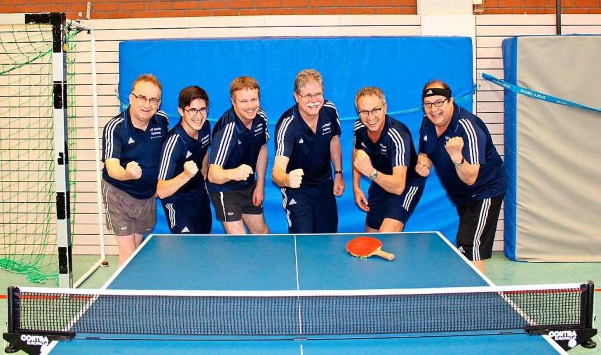 Die erste Herrenmannschaft schaffte im...ennis den Aufstieg in die Bezirksliga.  | Foto: Rüdiger Haas