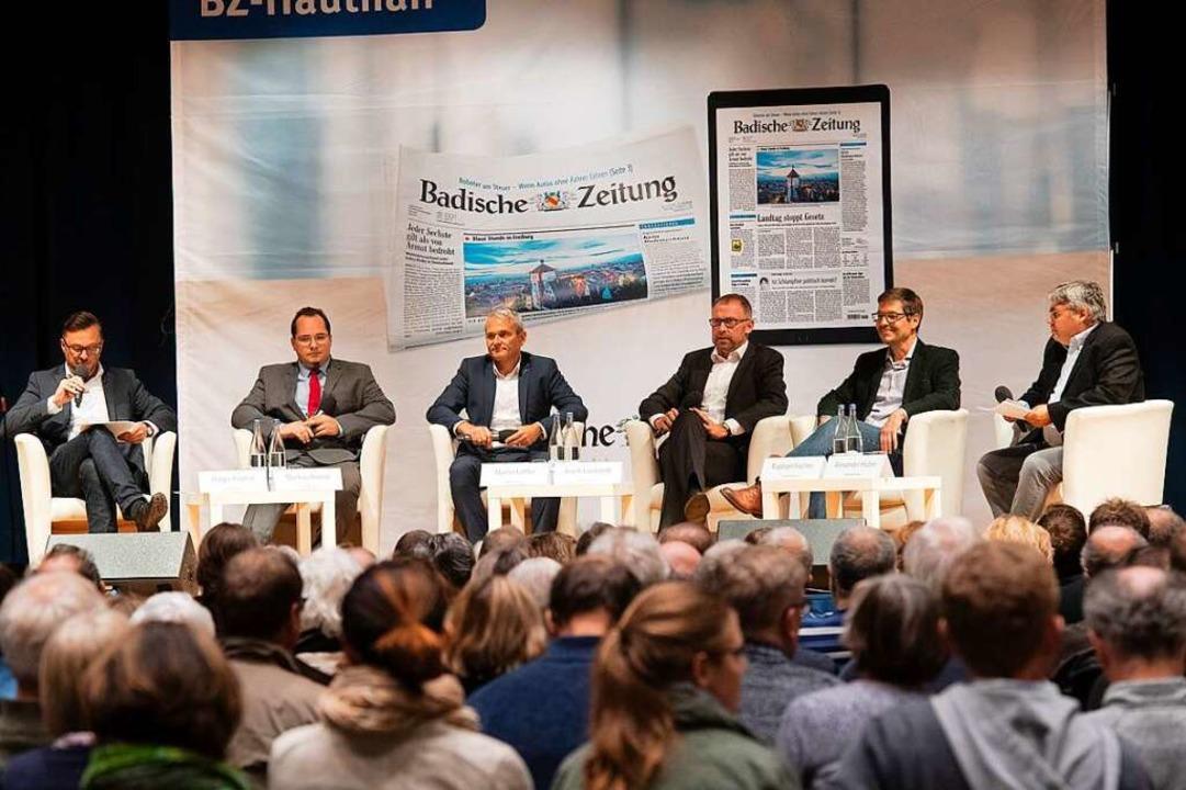Beim BZ-Kandidatentalk sprachen  der s...tedt und  Raphael Fechler (von links).  | Foto: Volker Münch