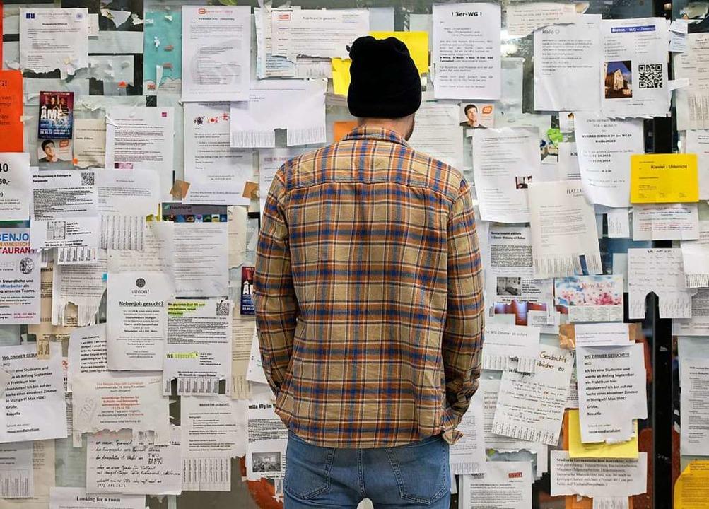 Die Suche nach einem Zimmer läuft nur ...ber Pinnwände in der Uni (Archivbild).  | Foto: Marijan Murat