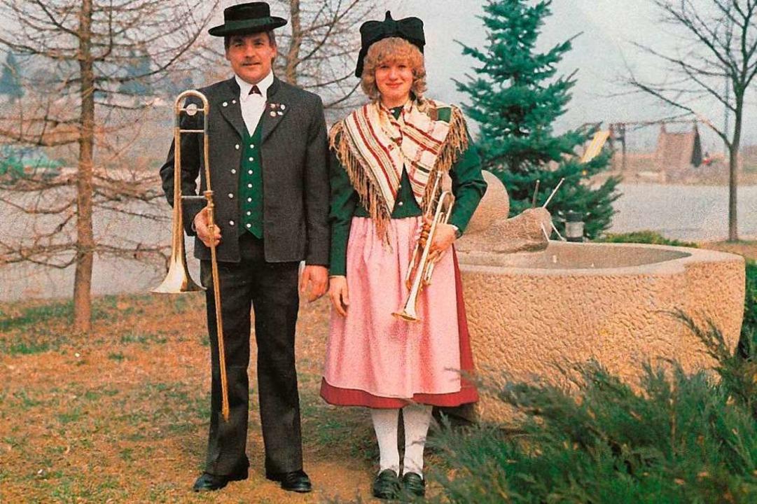 Seit 1979 tragen die Musiker diese Tracht.  | Foto: Batzenberger Winzerkapelle