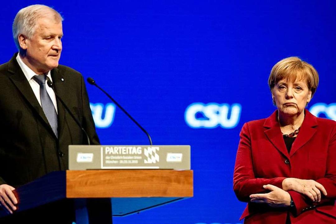 Dieses Bild prägte sich ein: Horst See...auf dem CSU-Parteitag 2015 in München.  | Foto: Sven Hoppe